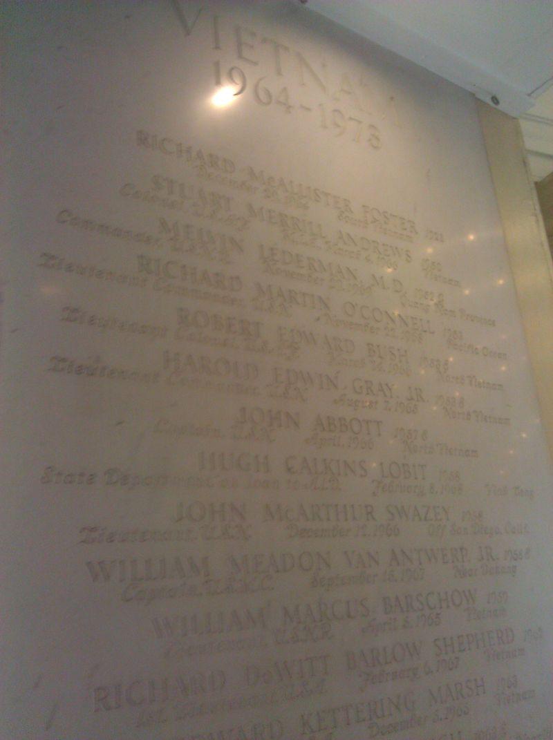 Vietnam Memorial at Yale