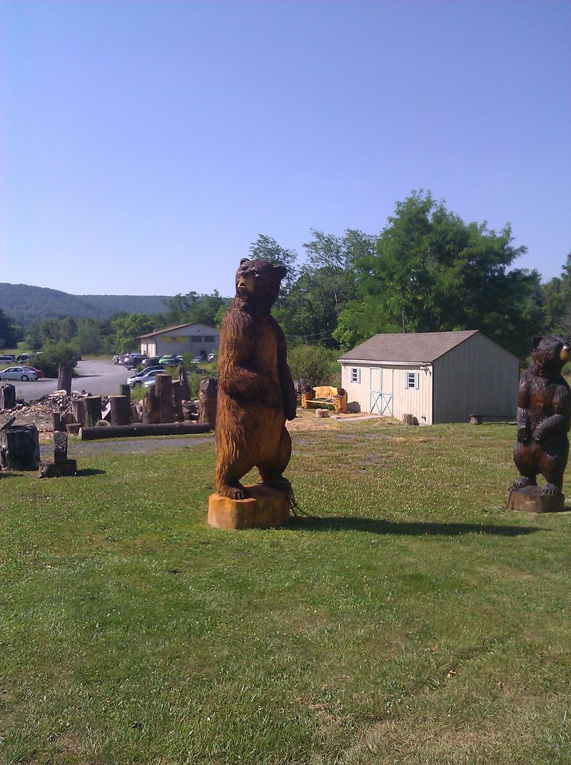 Large Wooden Carved Bear