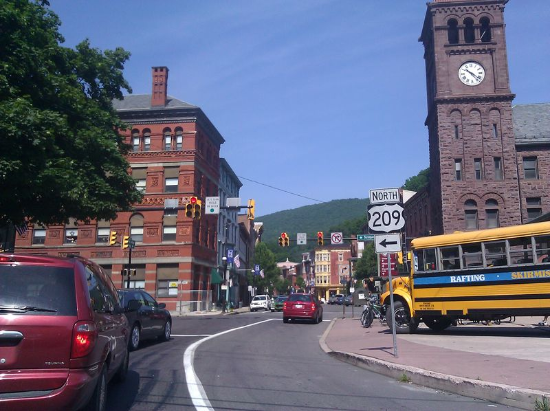 View up Broadway in Jim Thorpe, PA