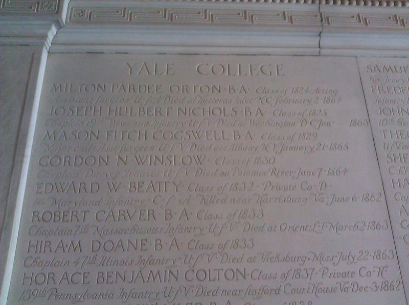 Civil War Memorial, Yale