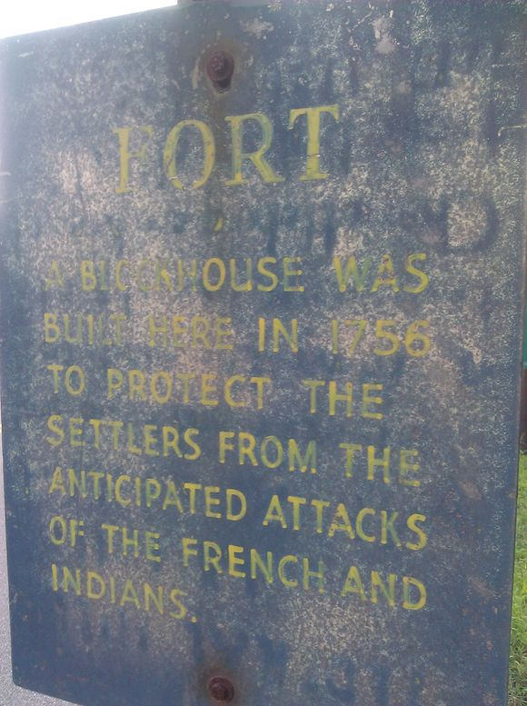 Historical Marker for a Fort on the Pequannock River in Riverdale, NJ.jpg
