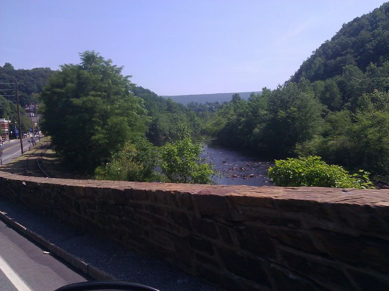 Lehigh River outside Jim Thorpe, PA in Mahoning, PA
