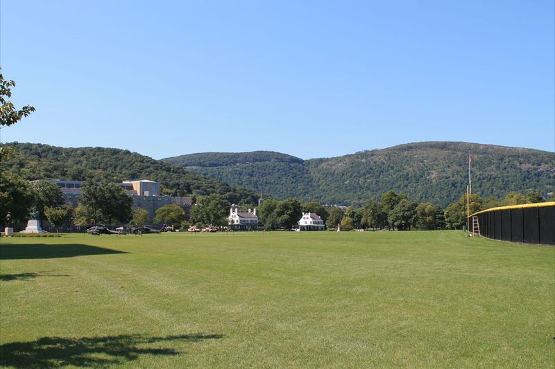 Field at West Point with Catskills in Background