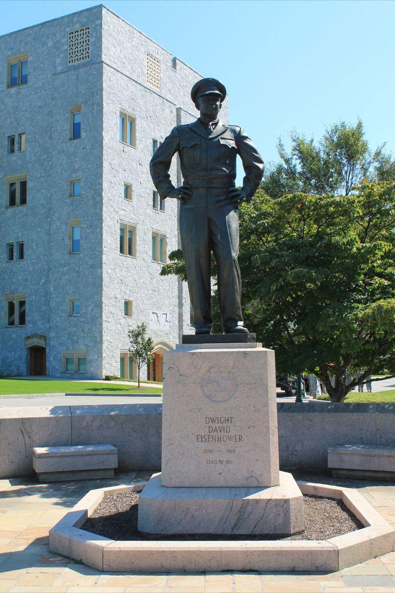President Eisnehower Memorial at West Point dressed as soldier