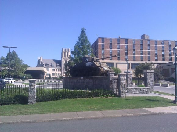 Sherman Tank in front of West Point Museum.jpg