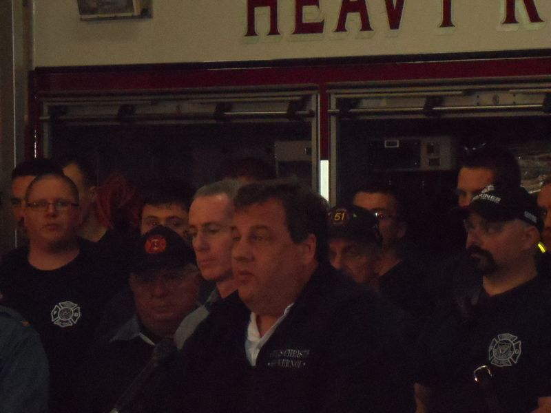 Closeup of Governor Christie on the eve of Hurricane Sandy on Sunday October 28th 2012
