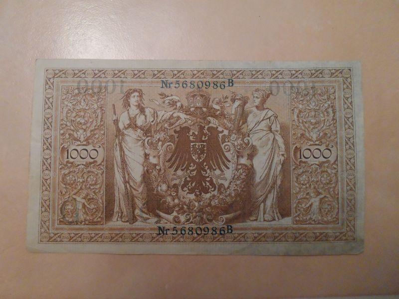 Pre WWI 1000 German marks