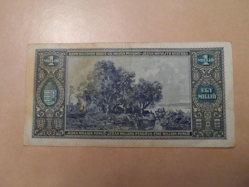 1945 Nov 1 Million Pengo Hungary reverse