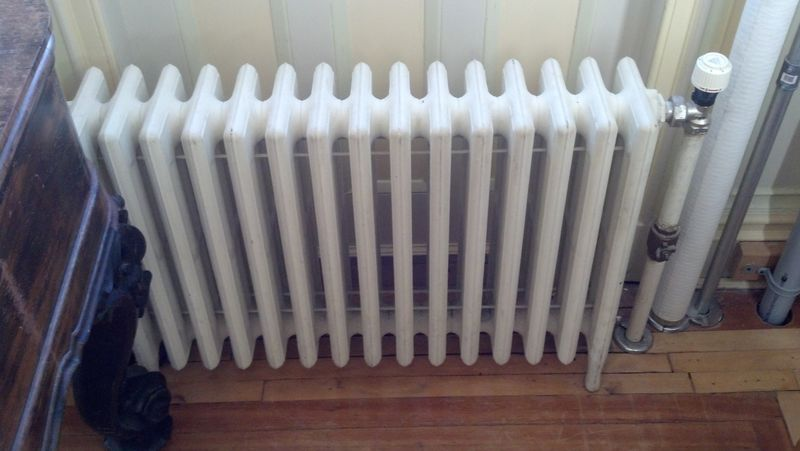 Radiator, installed central heating at Lambert Castle, the radiator was invented in Paterson, NJ