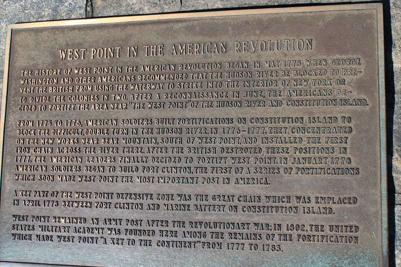 West Point Plaque in American Revolution