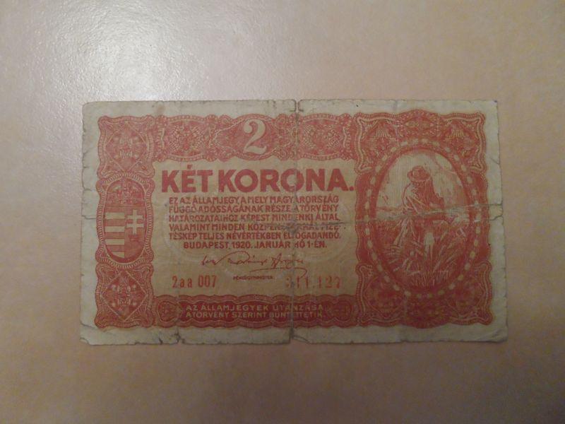 1920 Jan 2 Korona Hungary