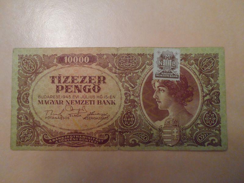 1945 Jul 10000 Pengo Hungary