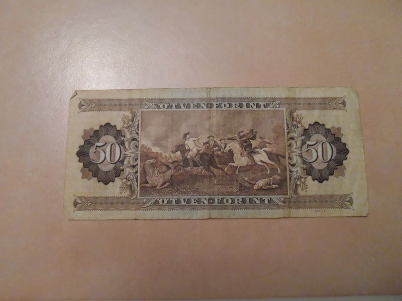 1986 50 Forint Hungary reverse