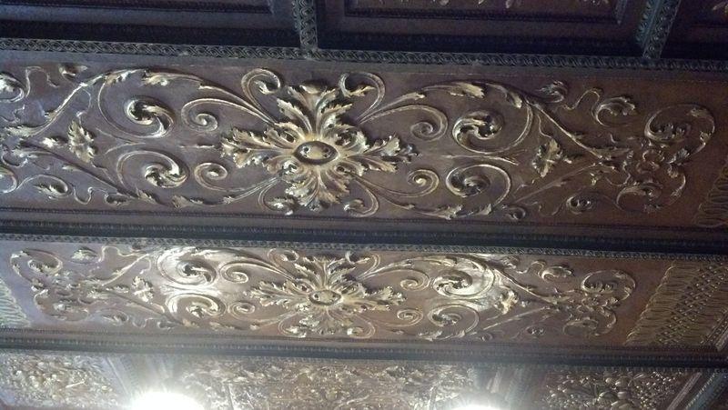 Lambert Castle Ceiling Gilt with 24K Gold