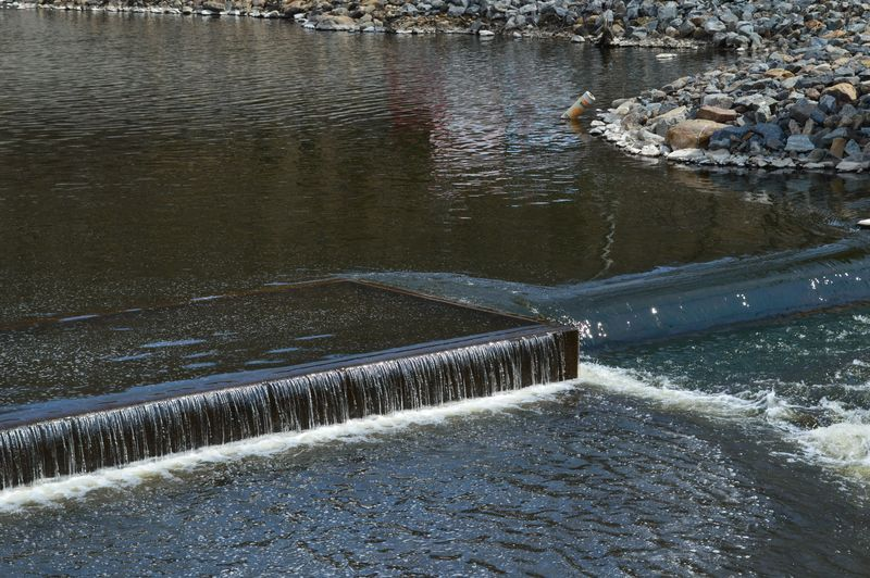 The release back into the Ramapo River as the river makes its way to its junction with Pequannock River