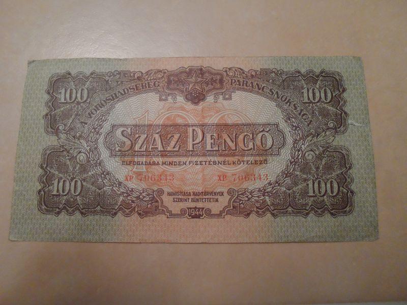 1945 Jul 1000 Pengo Hungary reverse