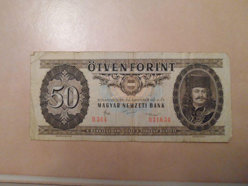 1986 50 Forint Hungary