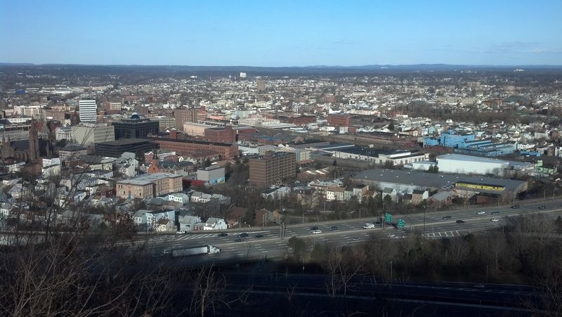 Another view of downtown Paterson, NJ with I80 in the foreground
