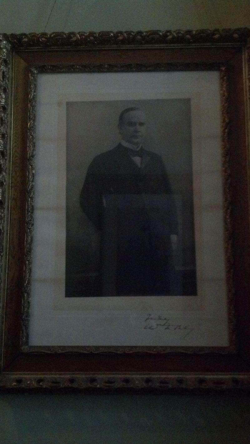 Signed Photograph of President McKinley Lambert Castle, Paterson, NJ
