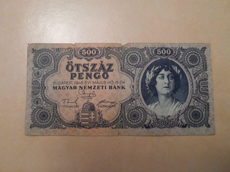 1945 May 500 Pengo Hungary