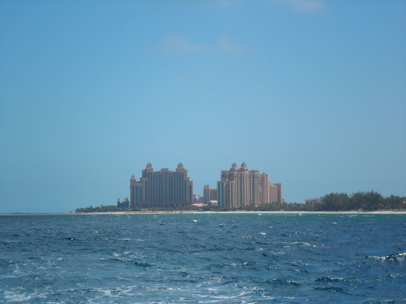 Atlantis from ocean just north of Hog Island Lighthouse