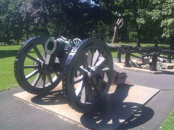 Vicksburg inscribed into Cannon at Civil War Memorial.jpg