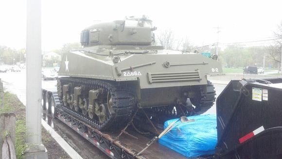 Sherman tank restored on Route 23.jpg